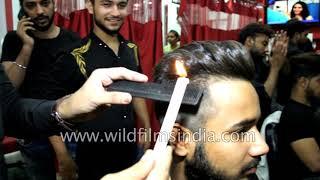 Candle hair cut in India - Mithun da, Anil Kapoor hair cut