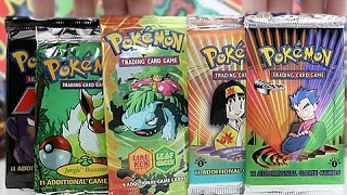 Opening 5 Rare Old School Pokemon Booster Packs!!