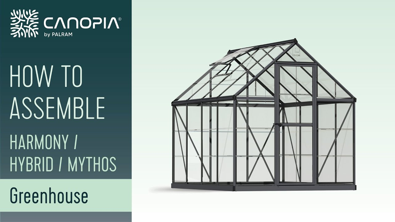 How To Assemble Greenhouse Kits 6\' Series by Palram - YouTube