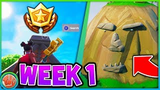 WEEK 1 Challenges SEASON 8 (Giant Face & GRATIS Tier) - Fortnite: Battle Royale