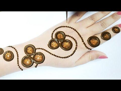 इस रमजान / ईद पे शेडेड अरेबिक मेहँदी लगाकर देखे - Easy Arabic Henna design 2020- Gol Tikki Mehandi