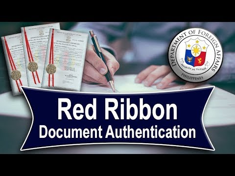 Red Ribbon -  Document Authentication 👍📝