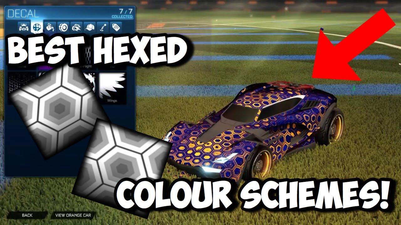 Best Hexed Colour Schemes Rocket League Youtube