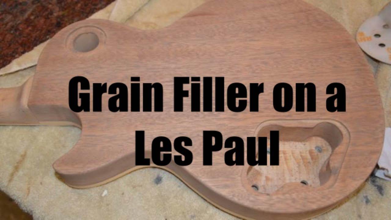 Grain Filler on a Les Paul Guitar, How to fill mahogany
