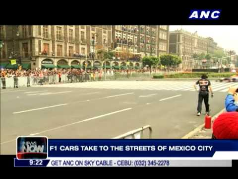 F1 cars take to the streets of Mexico City