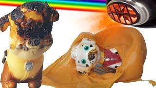 Строительный фен против собак из мультика ЩЕНЯЧИЙ ПАТРУЛЬ Смотреть мультфильм Экперимент: Собакены