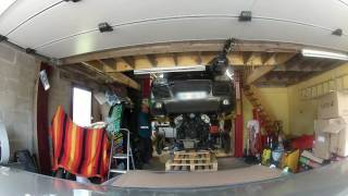 depose moteur cayenne