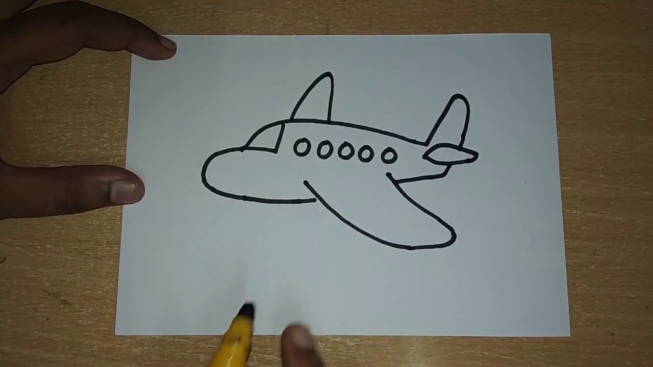 How To Draw Aeroplane Drawing For Kids Draw Easy Airplane Step