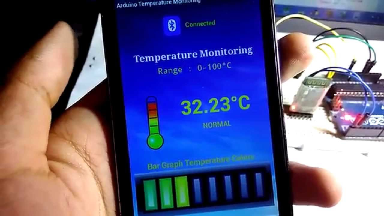 Temperature Monitoring with Arduino and Android - YouTube