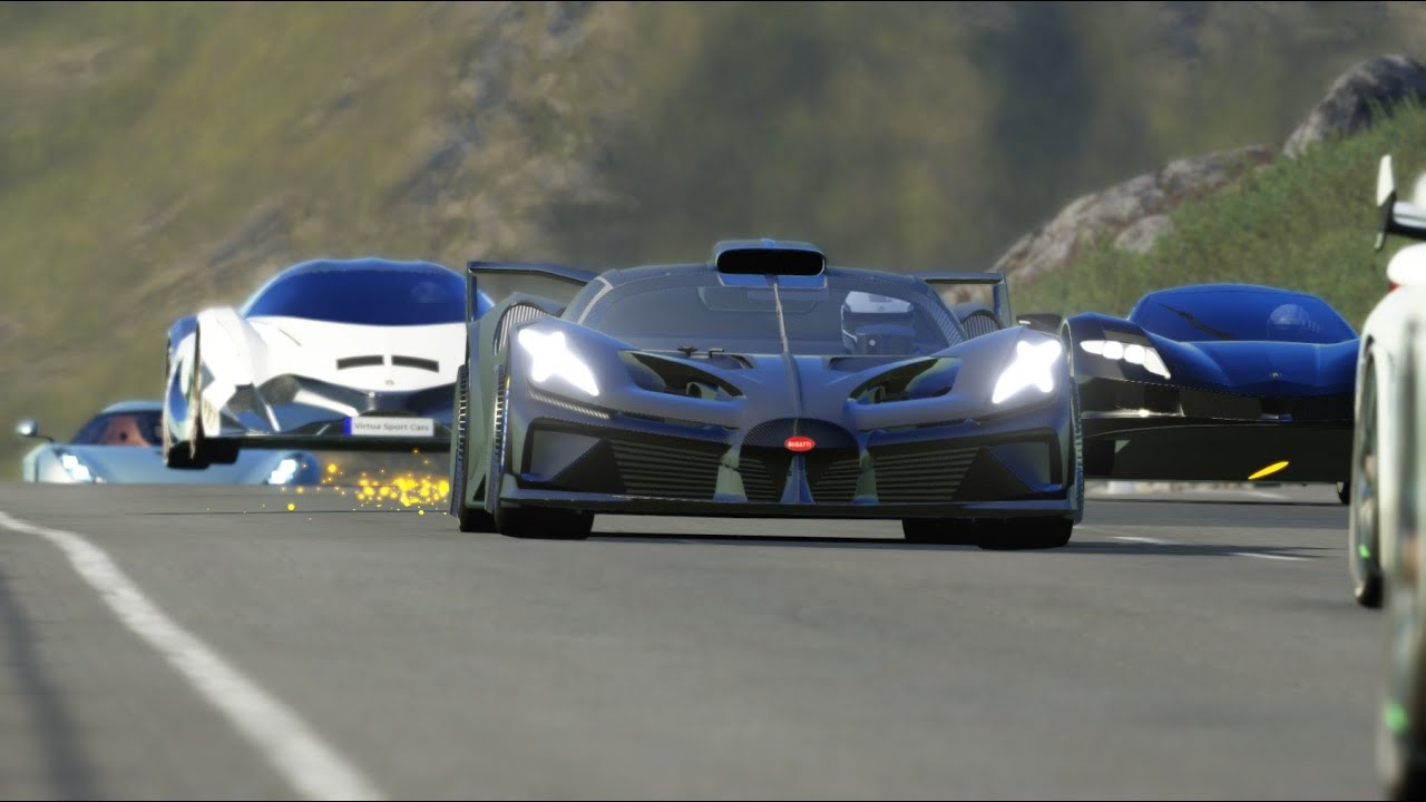 SF Fighter C vs Hypercars at Old Spa