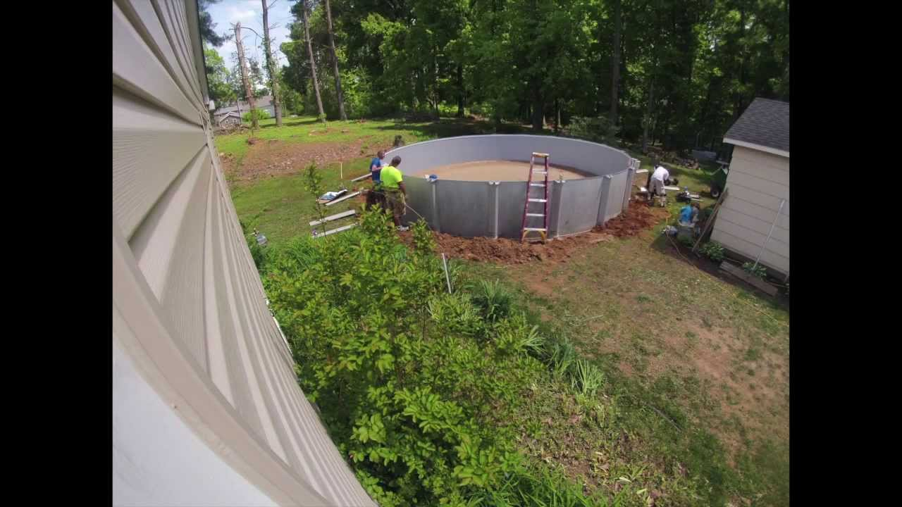 Parkway Pools Installing A 27 39 X52 Aboveground Pool Youtube