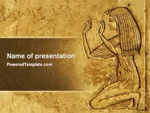 Egyptian Engraving Powerpoint Template By PoweredtemplateCom