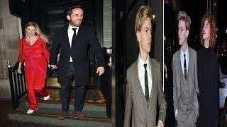 Love Actually star Thomas Brodie-Sangster is suited and booted for dinner with his girlfriend Gzi Wi