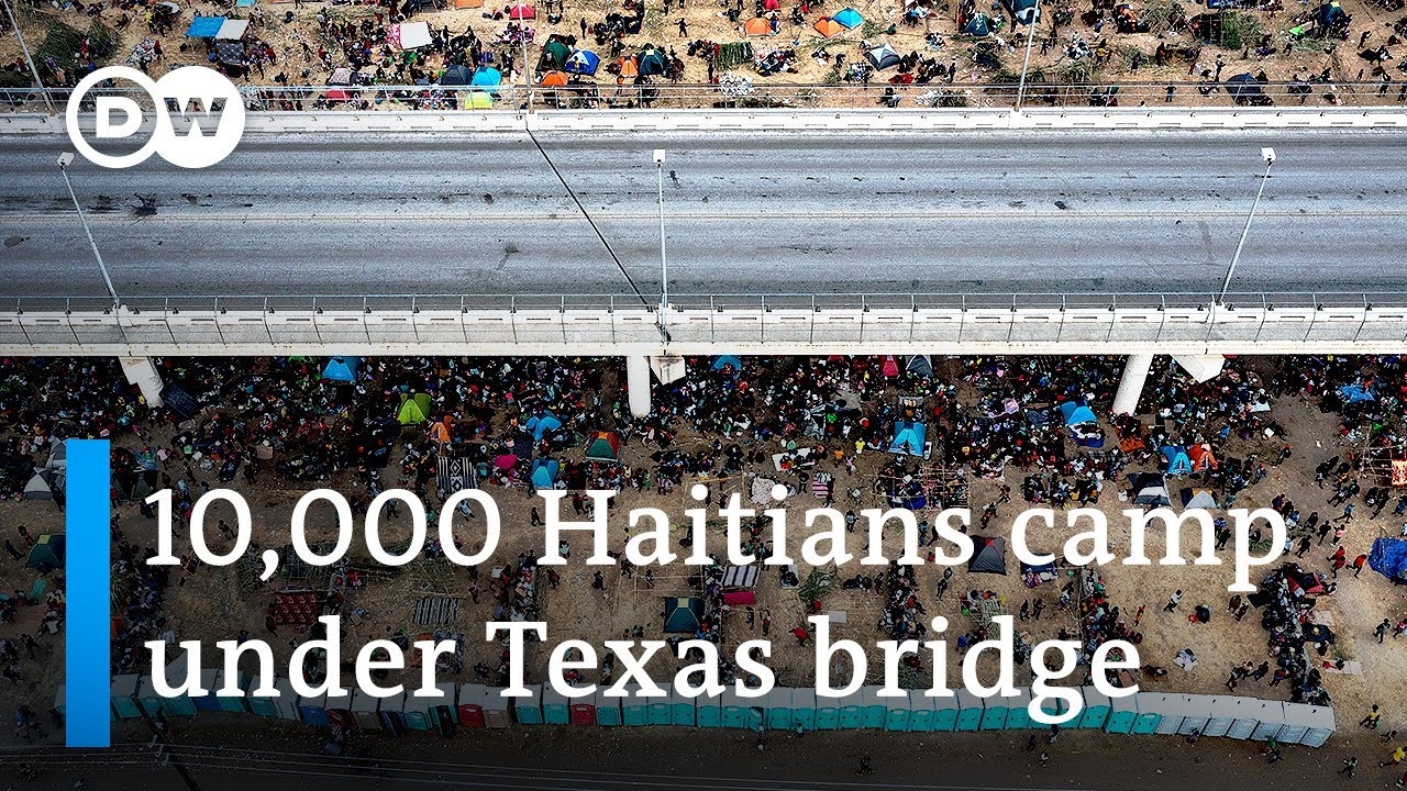 Thousands of Haitian migrants cross US border in Texas  DW News