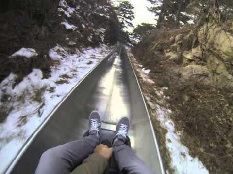 Mutianyu Great Wall of China Toboggan Ride (Too Fast!)