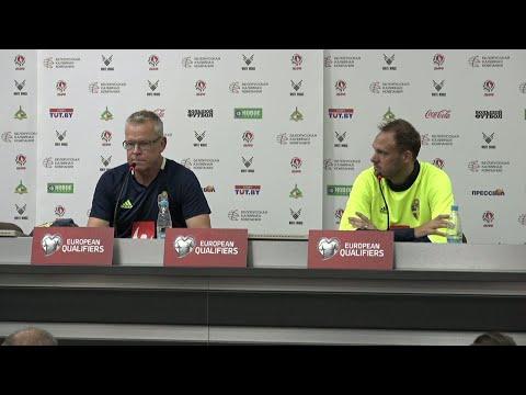 Andersson utesluter inte fler skiften i elvan - se landslagets presskonferens - TV4 Sport