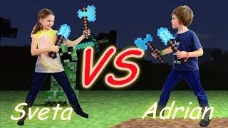 Майнкрафт битва за пиццу. Лучшая подружка Света vs ютьюб блоггер Адриан