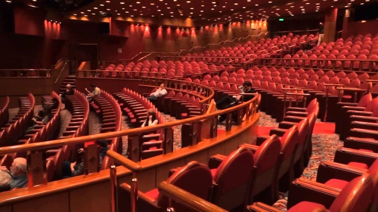 princess cruise ship theater tour   youtube