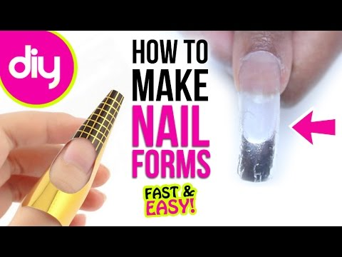How To Make Nail Forms For Acrylic