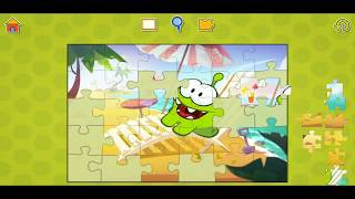 Om Nom Beach Fun Jigsaw Puzzle Video For Kids Apps Gameplay