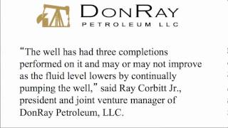 DonRay Petroleum Announced Completion of the DRP Grace #49 Well