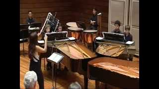 """Waltz of the flowers"" by Youth Ensemble three pianos four hands and percussion"
