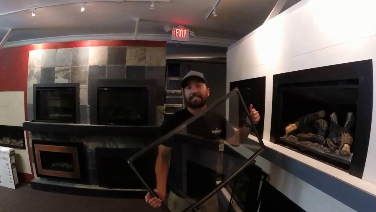kozy heat gas insert glass screen removal tutorial youtube