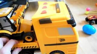 halsall jcb hauler lorry with tractor and digger.AVI
