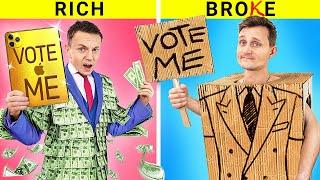 Богатый и бедный студент / Выборы президента! Веселые ситуации в колледже