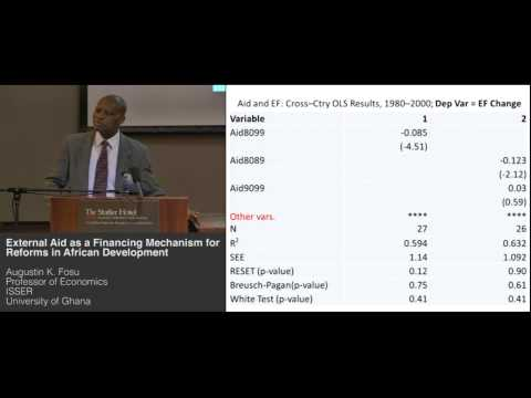 Augustin K. Fosu - External Aid as a Financing Mechanism for Reforms in African Development