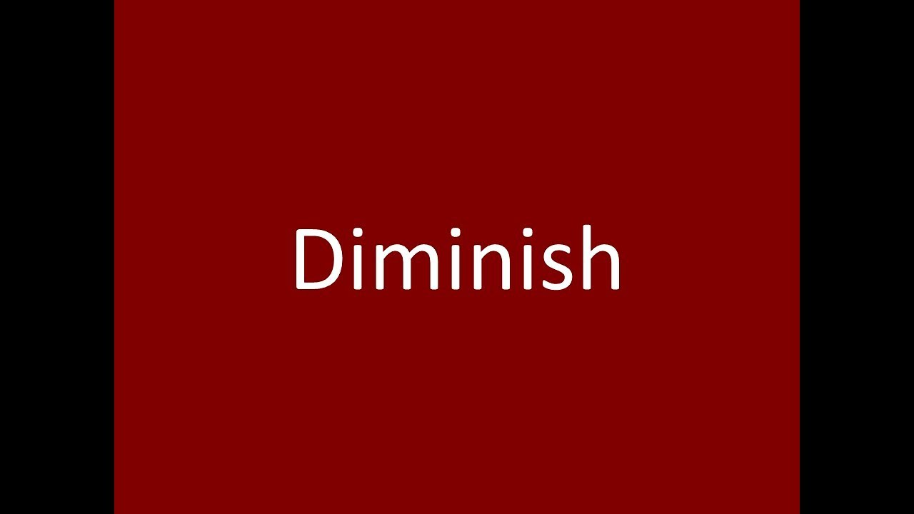 Charming Diminish Meaning Definition Pronunciation Example Synonym Antonyms