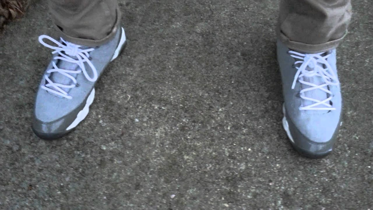1896eb25a4db8a 2002 Jordan cool grey 9 s on feet - YouTube