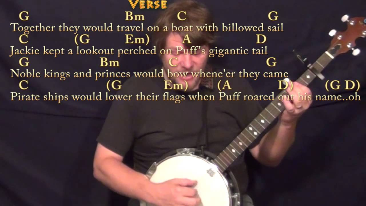Puff The Magic Dragon Banjo Cover Lesson With Chordslyrics Capo