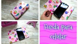 Como hacer una funda para celular con cartón, fácil y rápido