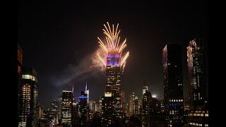 FIRST TIME EVER: Fireworks Launched from the EMPIRE STATE BUILDING in NYC!