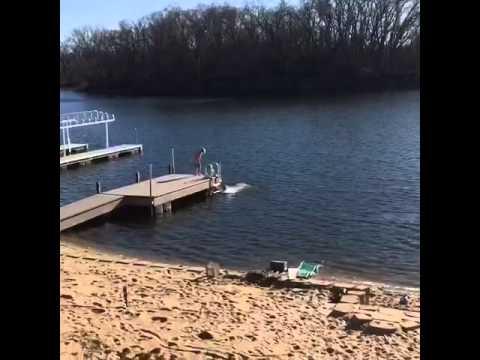 Swimming in February in Nebraska