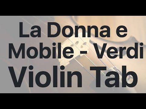 Learn La Donna e Mobile - Verdi on Violin - How to Play Tutorial