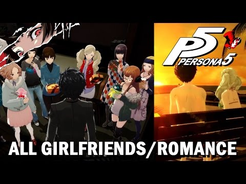 Persona 5 All Girlfriends - All Romance Scenes (Female Confidant Guide)