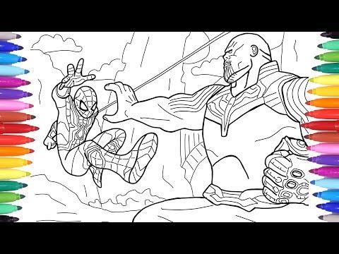 Spiderman Vs Thanos Avengers Infinity War Scene Avengers