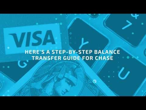 How to Do a Balance Transfer With Your Chase Credit Card Account