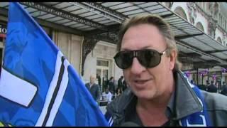 Arrivée des supporters du SC Bastia pour assister la finale de la Coupe de la Ligue