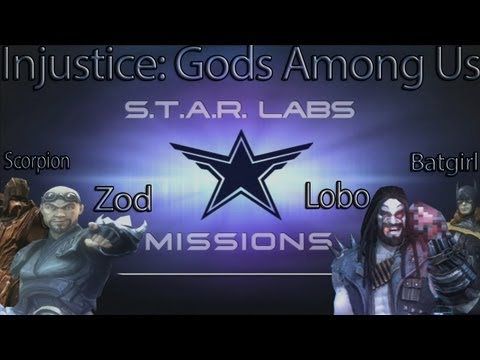Injustice: Gods Among Us - All Star Labs Missions for DLC Characters (Lobo, Batgirl, Scorpion, Zod)