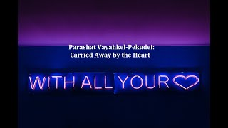 Jerusalem Lights Parashat Vayakhel-Pekudei 5781: Carried Away by the Heart