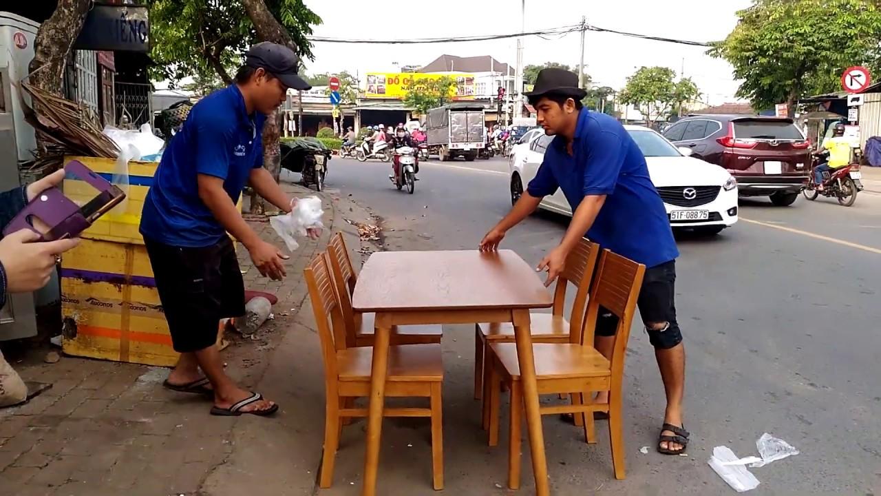 Bàn ghế gỗ quán ăn thanh lý giá rẻ – CHỢ ĐỒ CŨ LỚN NHẨT TPHCM