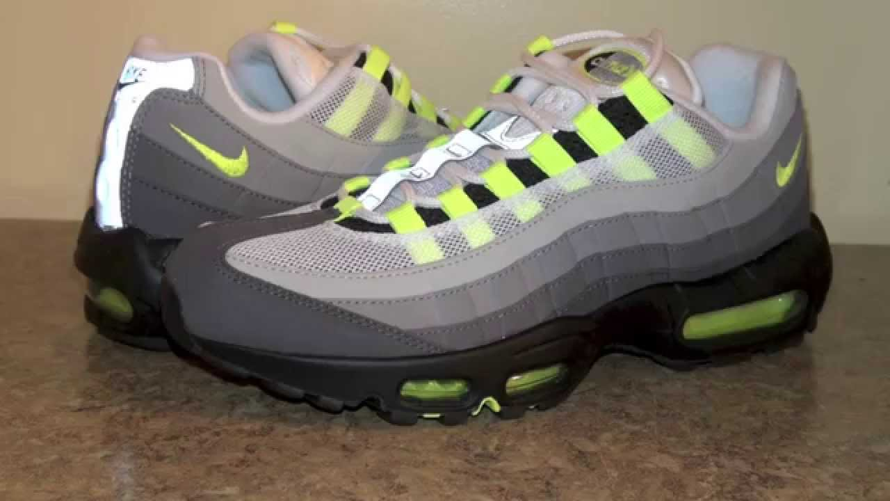 pretty nice 7297f d54e3 Nike Air Max 95 OG Neon 2015 (Volt) - YouTube