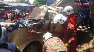 Falling mahogany tree crushes student, school van driver in Kuala Terengganu freak accident
