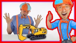 Learn the Parts of an Excavator with Blippi Toys