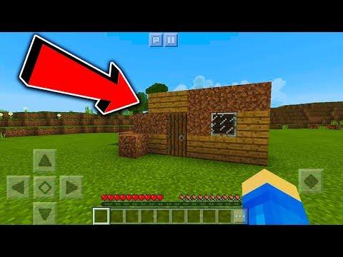 Minecraft na Telefon - mUj pierwszy domek! #2