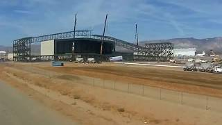 Stratolaunch Hangar Construction Timelapse