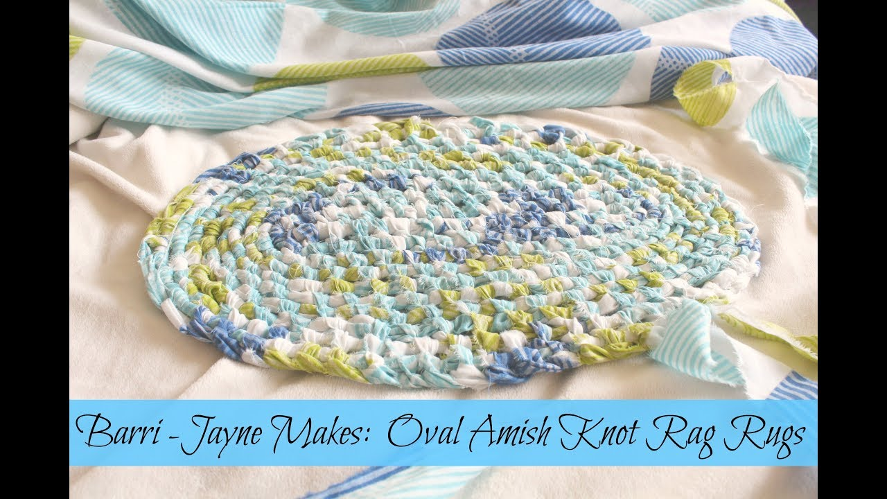 How To Make An Oval Amish Knot Toothbrush Rag Rug Tutorial